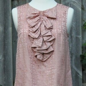MARC BY MARC JACOBS Ruffle Pink Silk Floral Tank S